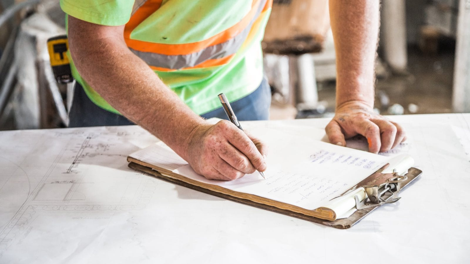 Paper timesheet to track construction employee hours